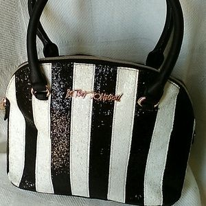 Betsey Johnson Sequined Candy Cane Satchel